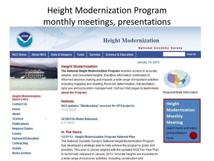 Height Modernization Program