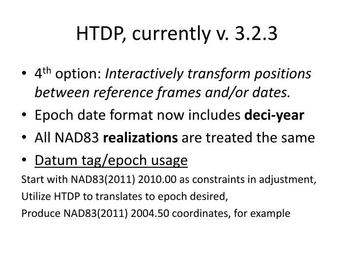 HTDP, currently v. 3.2.3