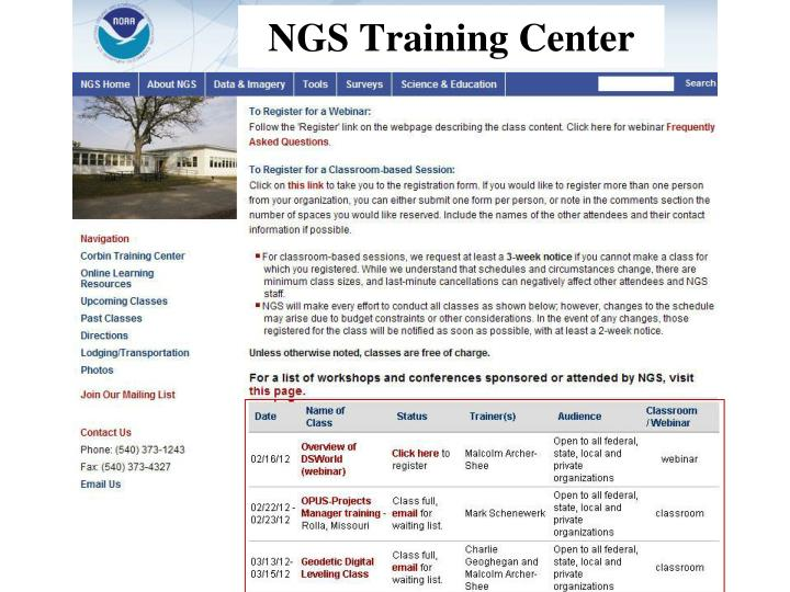 NGS Training Center