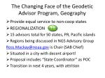 the changing face of the geodetic advisor program geography