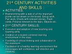 21 st century activities and skills