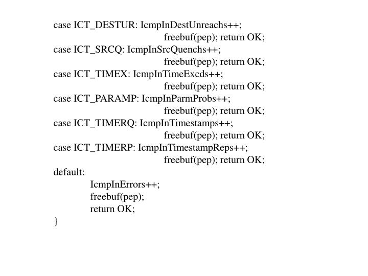 case ICT_DESTUR: IcmpInDestUnreachs++;