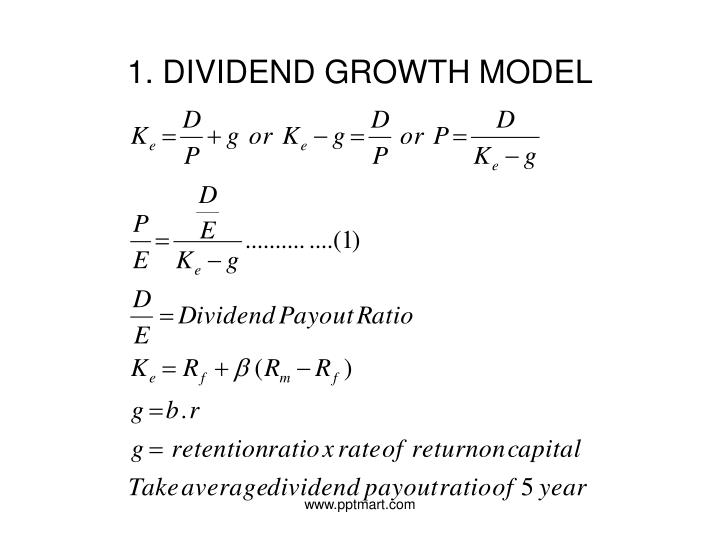 1. DIVIDEND GROWTH MODEL
