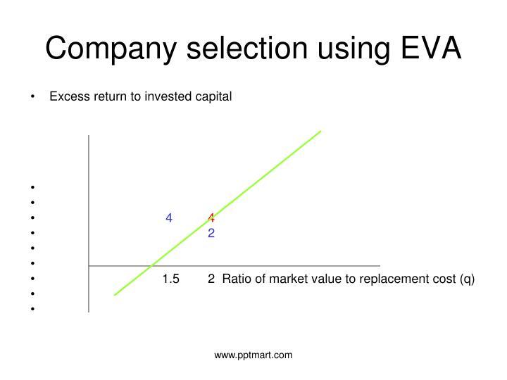 Company selection using EVA