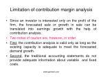 limitation of contribution margin analysis