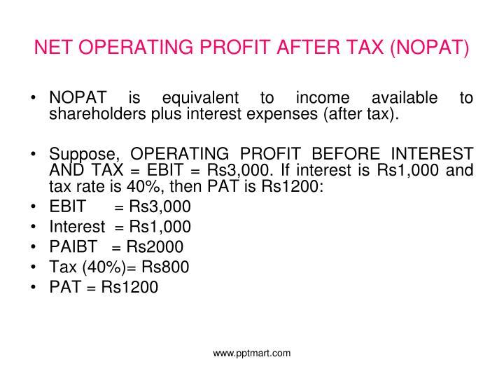 NET OPERATING PROFIT AFTER TAX (NOPAT)
