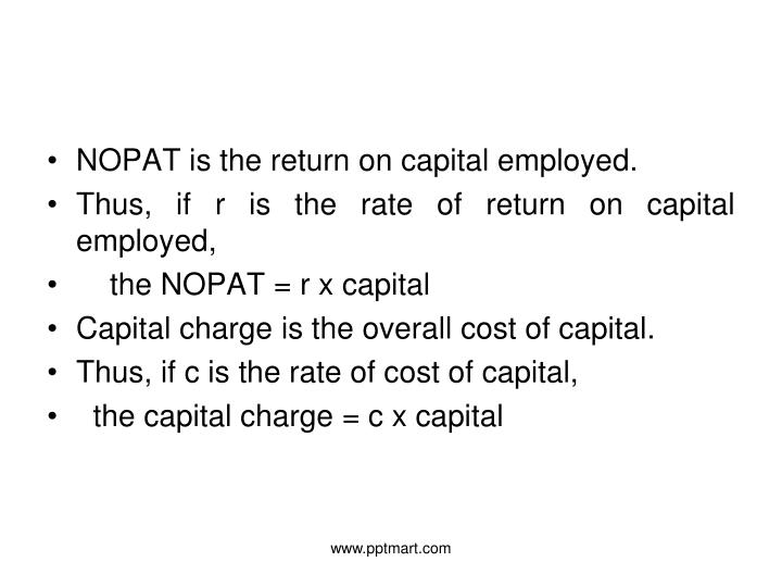 NOPAT is the return on capital employed.