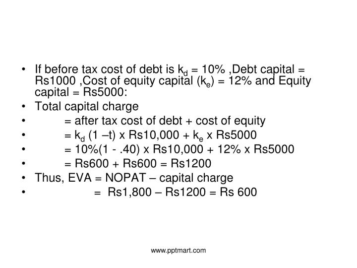 If before tax cost of debt is k