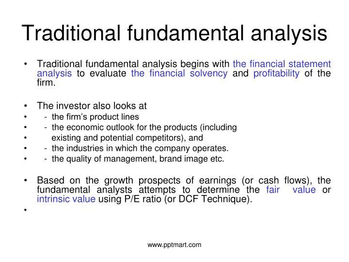 Traditional fundamental analysis