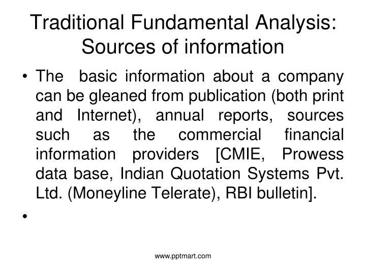Traditional Fundamental Analysis: