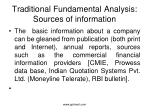 traditional fundamental analysis sources of information