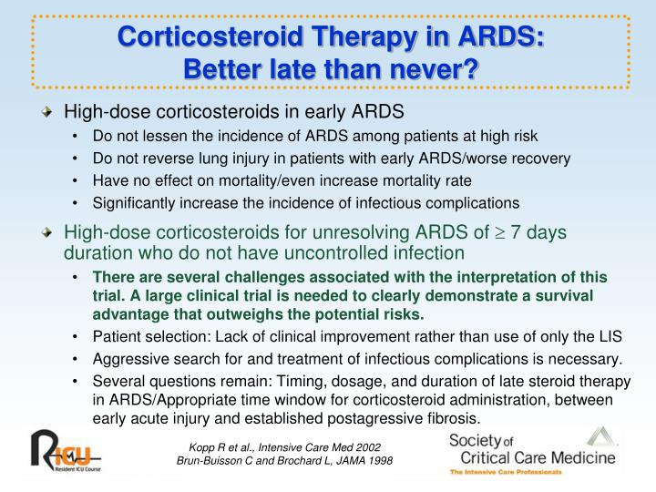 Corticosteroid Therapy in ARDS: