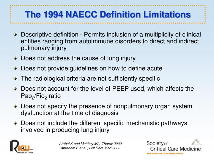 The 1994 naecc definition limitations