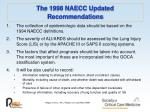 the 1998 naecc updated recommendations