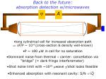 back to the future absorption detection w microwaves