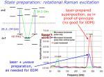state preparation rotational raman excitation