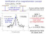 verification of co magnetometer concept