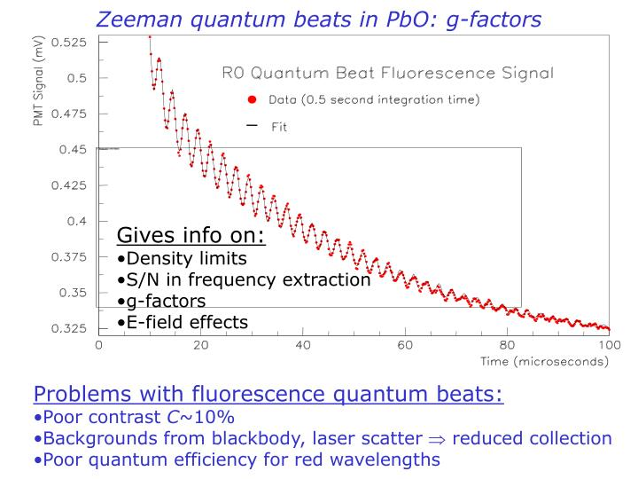 Zeeman quantum beats in PbO: g-factors
