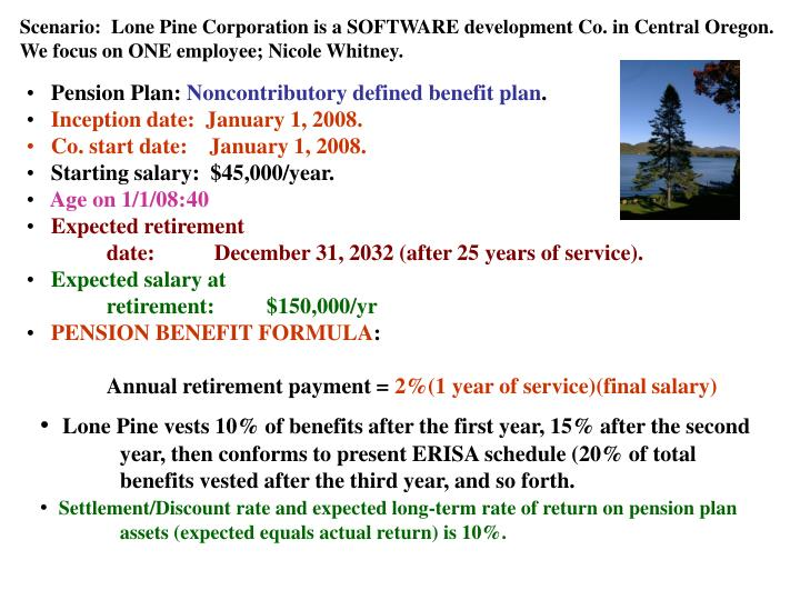 Scenario:  Lone Pine Corporation is a SOFTWARE development Co. in Central Oregon.