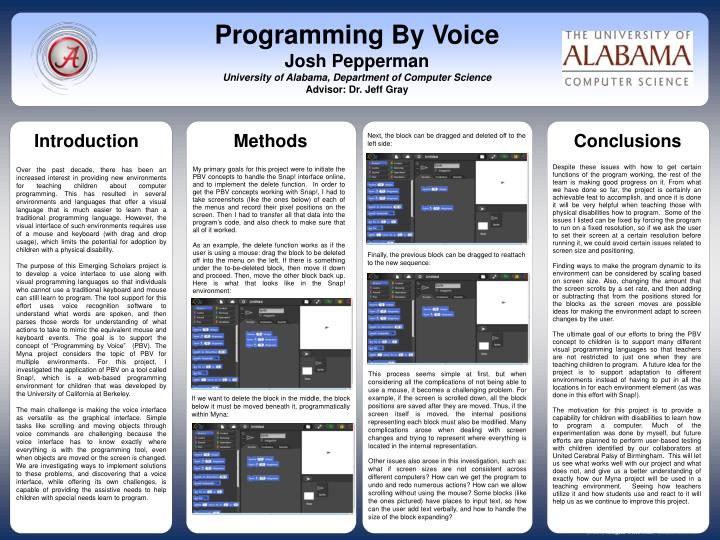 Programming By Voice