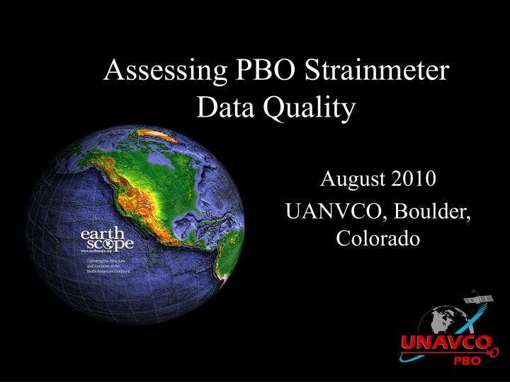 assessing pbo strainmeter data quality