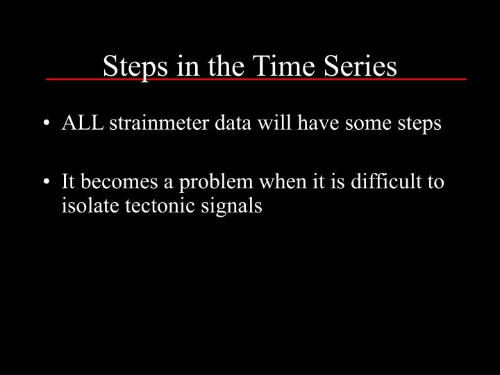 Steps in the Time Series