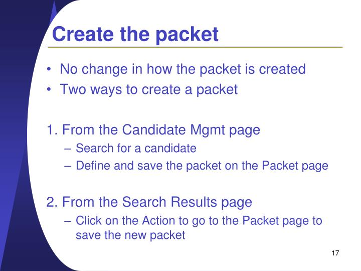 Create the packet