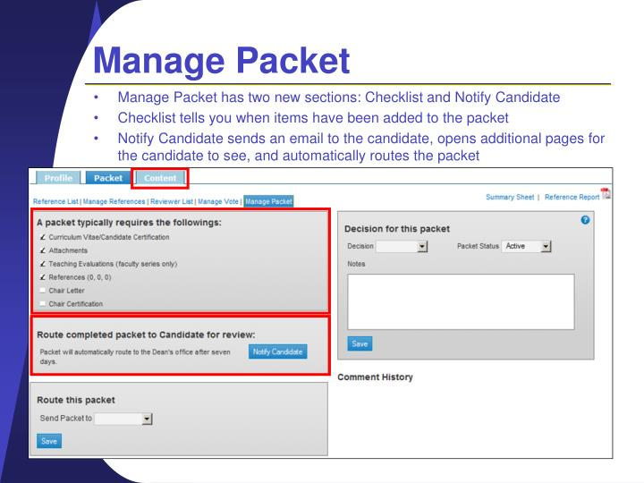 Manage Packet