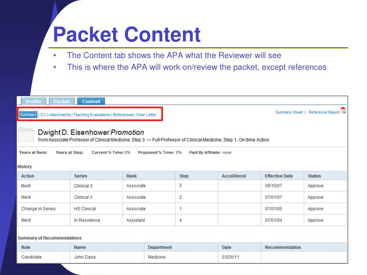 Packet Content