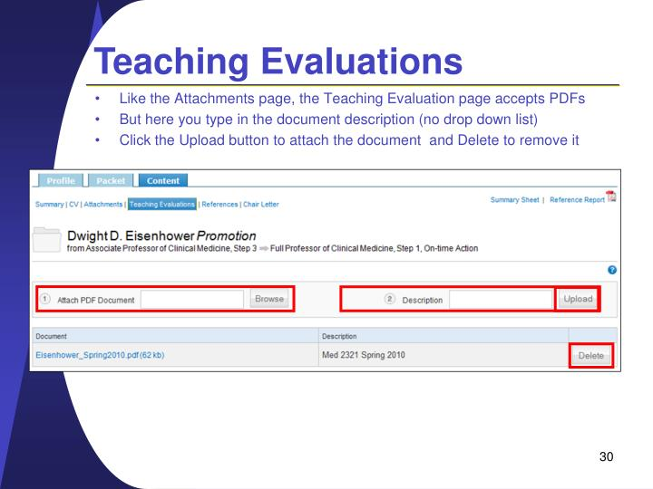 Teaching Evaluations