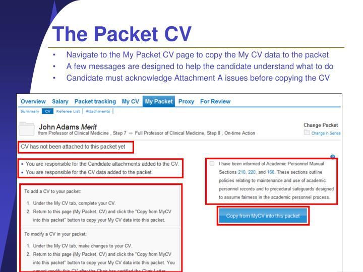 The Packet CV