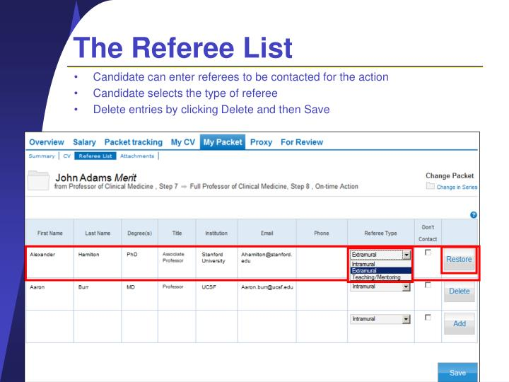 The Referee List