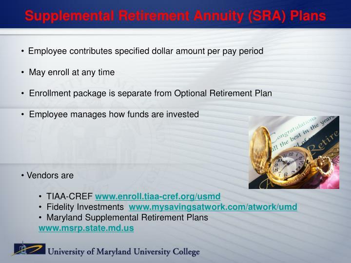 Supplemental Retirement Annuity (SRA) Plans