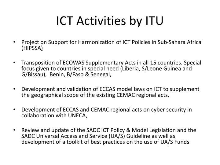 ICT Activities by ITU
