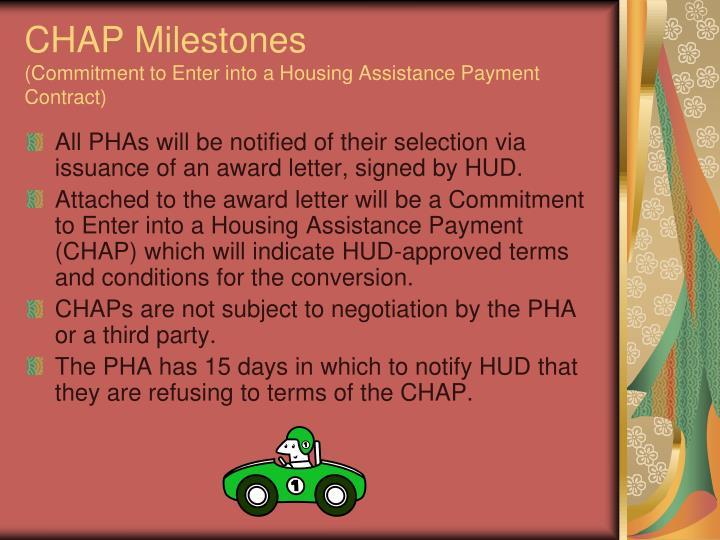 CHAP Milestones