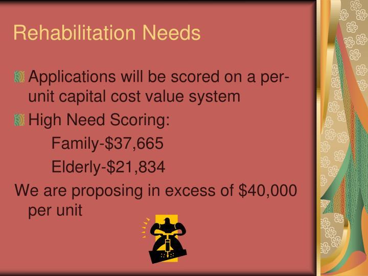 Rehabilitation Needs