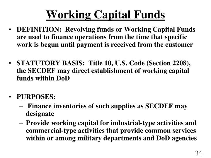 Working Capital Funds