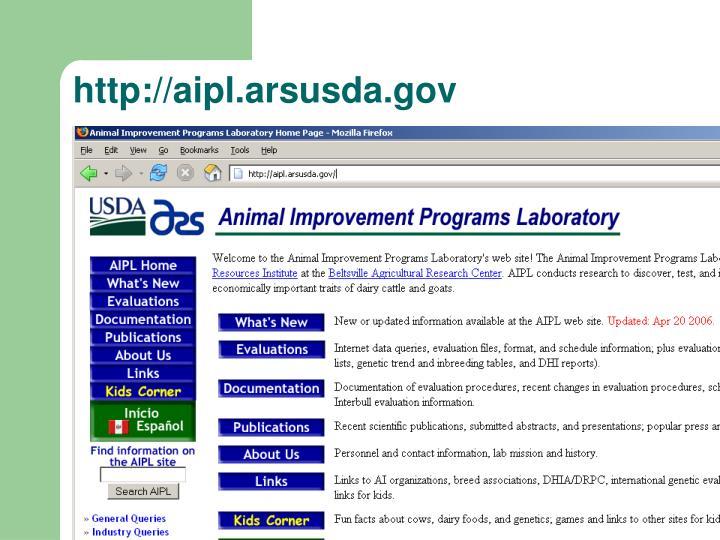 http://aipl.arsusda.gov