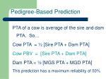 pedigree based prediction