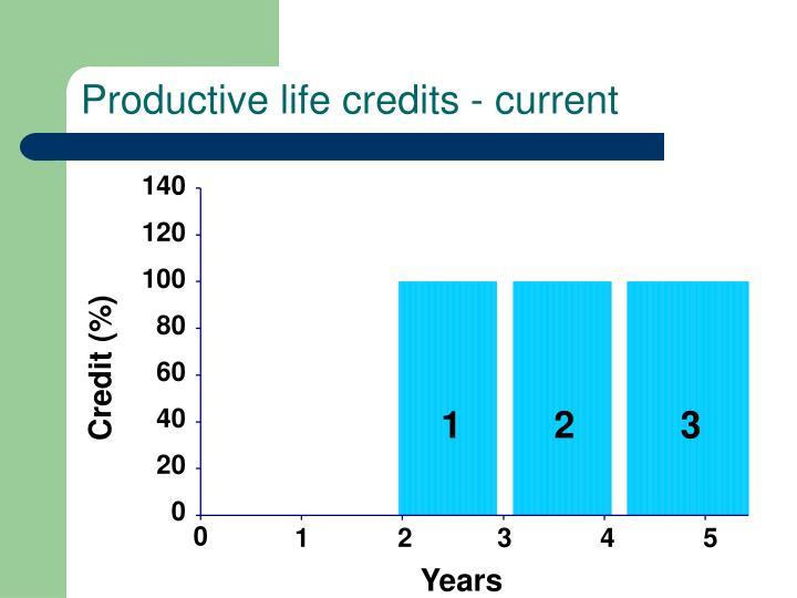 Productive life credits - current
