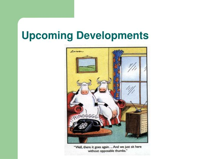 Upcoming Developments