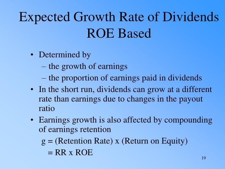 Expected Growth Rate of Dividends