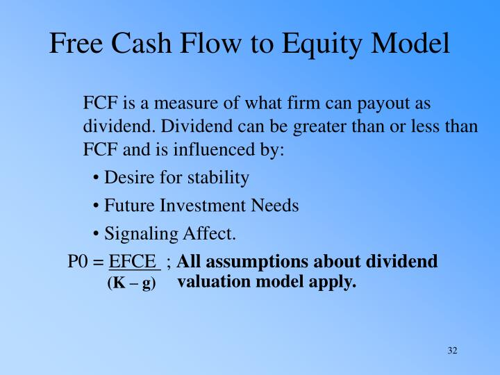 Free Cash Flow to Equity Model