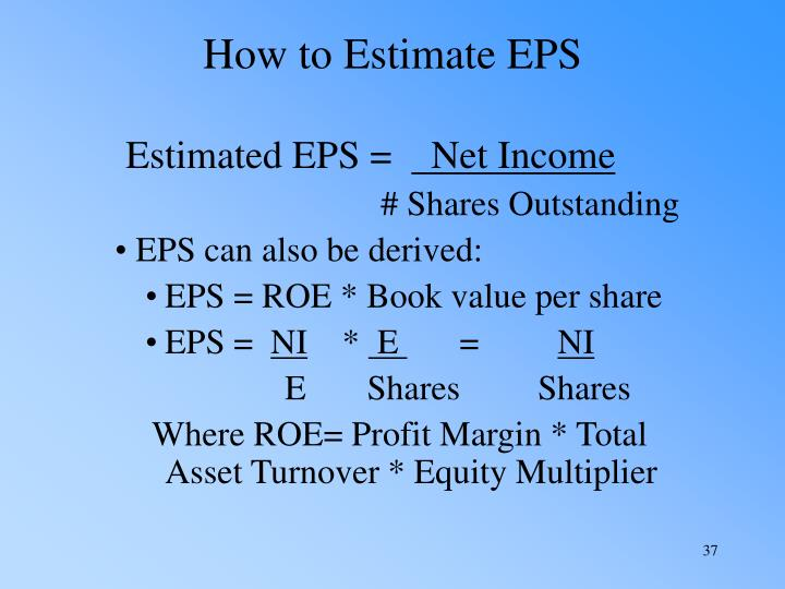 How to Estimate EPS