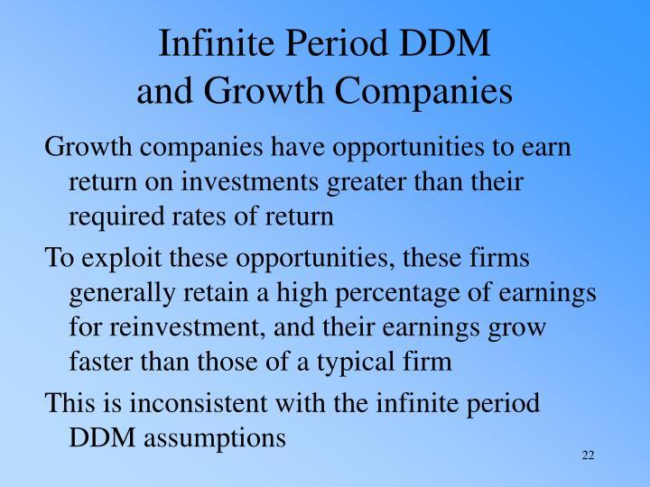 Infinite Period DDM
