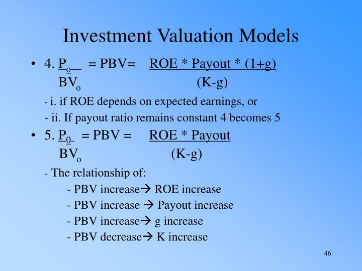 Investment Valuation Models