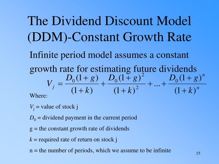 The Dividend Discount Model (DDM)-Constant Growth Rate
