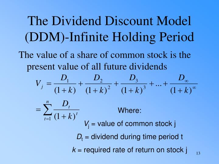 The Dividend Discount Model (DDM)-Infinite Holding Period