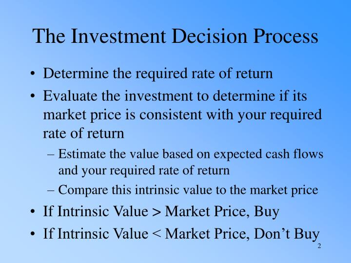 The Investment Decision Process