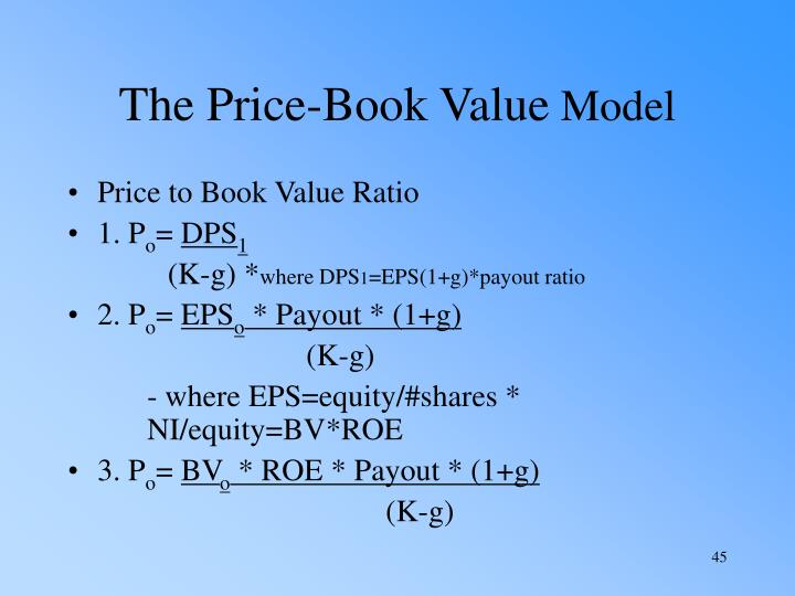 The Price-Book Value